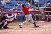Portland Sea Dogs batter Will Middlebrooks swings
