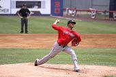 Portland Sea Dogs pitcher Stolmy Pimentel throws a pitch
