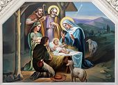 stock photo of manger  - Nativity Scene - JPG