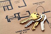 House Keys On Floor Plans