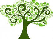 Back to School - Baum mit Bildung icons
