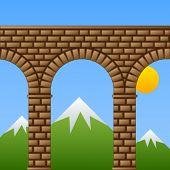 Acueducto de viaducto Vector antiguo puente de piedra