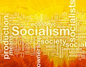 Word cloud concept illustration of socialism economy international