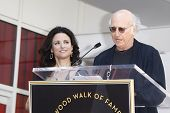 LOS ANGELES - MAY 4: Julia Louis-Dreyfus and Larry David at a ceremony where Julia Louis-Dreyfus is
