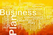 Word cloud concept illustration of business plan international