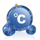 Celsius blue christmas balls icon poster
