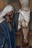 Virgin Mary under the Cross