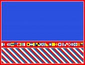 EPS8 Vector bandera náutica frontera