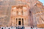Treasury Monument And Plaza In Antique City Petra