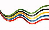 stock photo of olympiade  - Ribbons in colors of the five continents - JPG