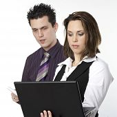Two People Working Together