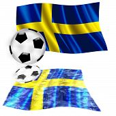 Football Flag Sweden