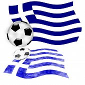 Football Flag Greece