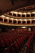 Cluj National Theater interior, Transylvania, Romania