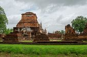 The Sukhothai Historical Park Contains The Ruins Of Old Sukhothai. Asalha Puja Day Or Sangha Day Is  poster
