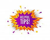 Helpful Tips Symbol. Banner Badge, Offer Sticker. Education Faq Sign. Help Assistance. Helpful Tips  poster