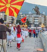Skopje/north Macedonia-august 28 2018: poster