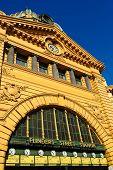 Flinders Street Station In Downtown Melbourne