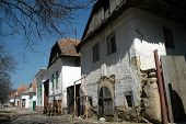 Medieval village houses