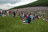 Hungarian pilgrims gather to celebrate the Pentecost and the catholic pilgrimage