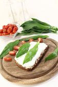 Ramson Bread With Fresh Cottage Cheese