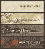 Grunge banners set. Vector illustration.