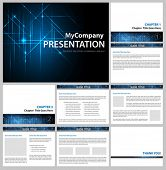 presentation template - business company slide show design - vector editable