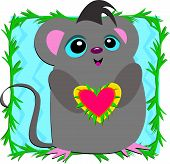Loving Mouse with a Big Heart