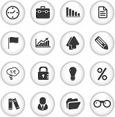 business, marketing buttons, icons set, vector