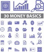 money & finance icons set, vector