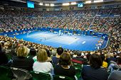 MELBOURNE - JANUARY 26: Crowd at Rod Laver Arena during the 2013 Australian Open Womens Championship