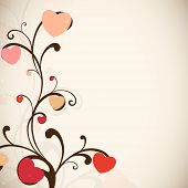 Floral decorated Valentine's Day background. EPS 10.