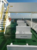 Empty Seats On A Ferry Boat