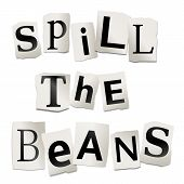 Spill The Beans Concept.