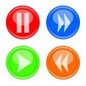 Grupo de botones de control de jugador