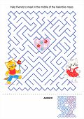Maze game for kids - Valentine kittens