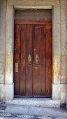foto of wooden door  - old wooden door - JPG