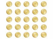 Crachás com sinais de moeda