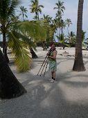Woman Photographer on Big Island Hawaii