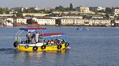 Sevastopol. Ukraine.- Sentember 2:the Walking Boat At Excursion On City Bays. Sentember-24.2012 In S