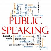 Public Speaking Word Cloud Concept
