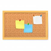 Corkboard with pushpins