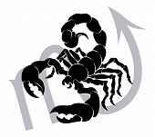 foto of scorpion  - Illustration of Scorpio the scorpion zodiac horoscope astrology sign - JPG
