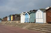 Beach Huts at Walton on the Naze, Essex, UK.