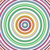 Multicolored circles on a white background digital art.