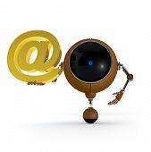 Robot Keep Mail Sign