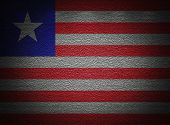 Liberia Flag Wall, Abstract Grunge Background