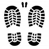 vector clean shoe imprint
