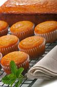 Citrus cupcakes and cake with lemon glaze