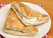 Fresh cream apple turnover pastries.
